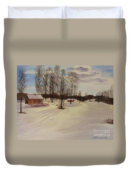 Snow In Solbrinken Duvet Cover by Martin Howard