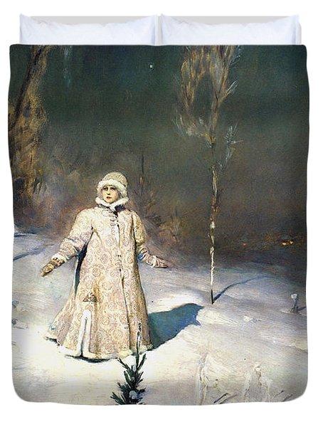 Snow Maiden 1899 By Vasnetsov Duvet Cover by Movie Poster Prints