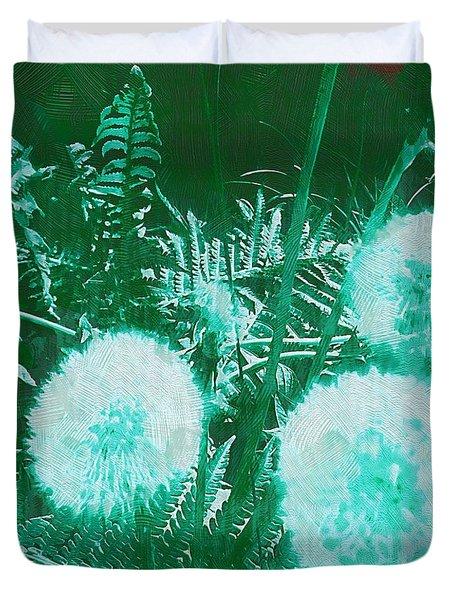 Snowballs In The Garden Duvet Cover by Pepita Selles