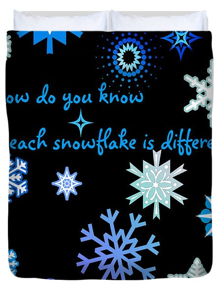 Snowflakes 2 Duvet Cover by Methune Hively