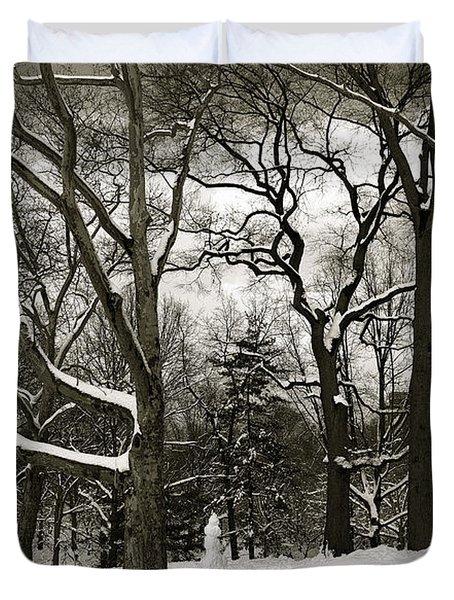 Snowman Duvet Cover by Madeline Ellis