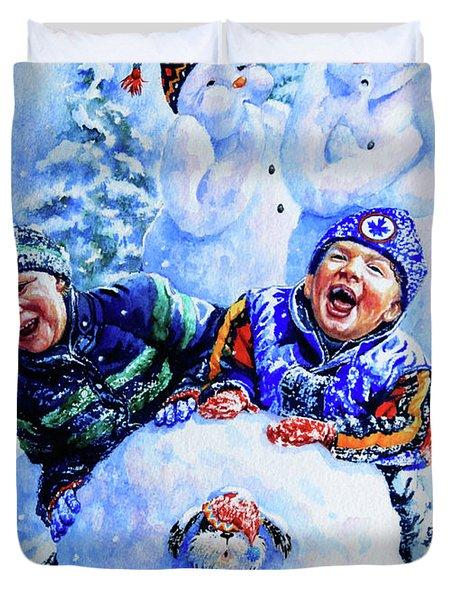 Snowmen Duvet Cover by Hanne Lore Koehler