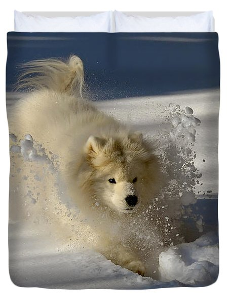 Snowplow Duvet Cover by Lois Bryan