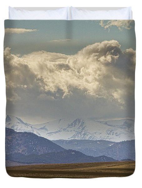 Snowy Rocky Mountains County View Duvet Cover by James BO  Insogna