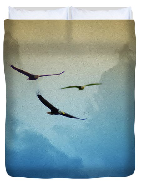 Soaring Eagles Duvet Cover by Bill Cannon