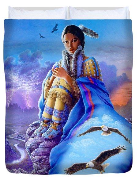 Soaring Spirit Duvet Cover by Andrew Farley