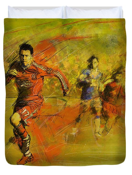 Soccer  Duvet Cover by Corporate Art Task Force