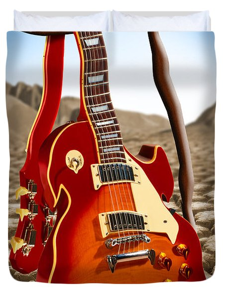 Soft Guitar Duvet Cover by Mike McGlothlen