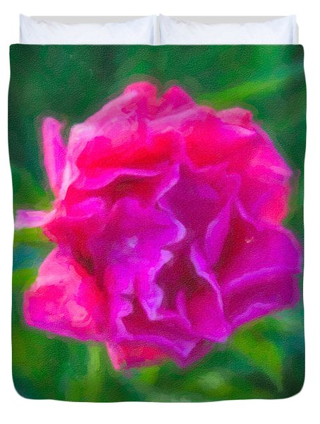 Soft Pink Peony Duvet Cover by Omaste Witkowski