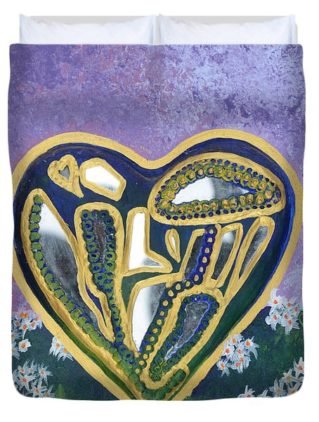 Softened Heart Best Reflections Energy Collection Duvet Cover by Catt Kyriacou
