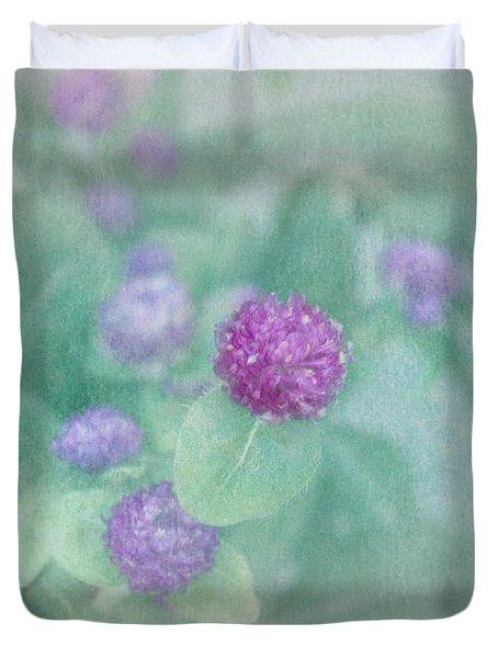 Softly Clover Duvet Cover by Kim Hojnacki