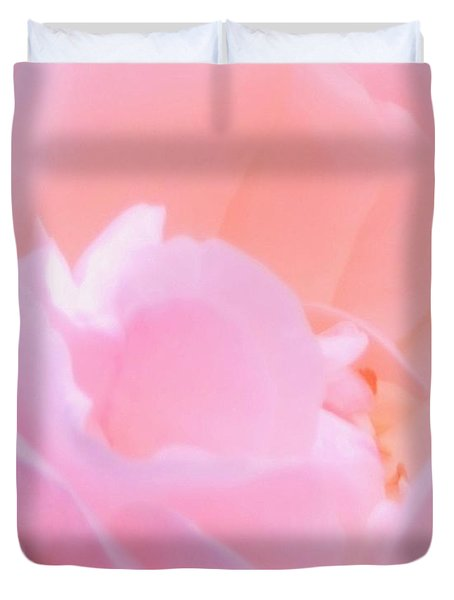Softness Of A Rose Duvet Cover by Kathleen Struckle