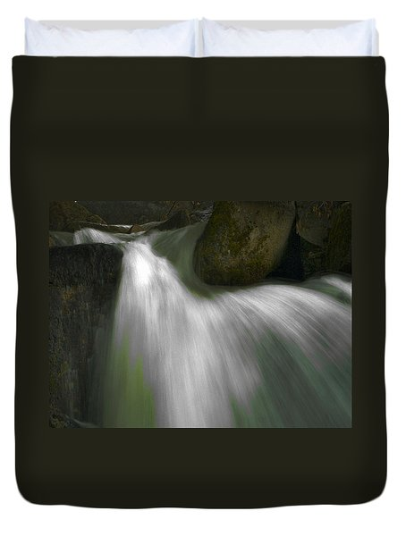 Softwater Of Cascade Creek Duvet Cover by Bill Gallagher