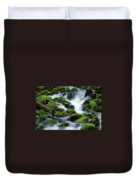 Sol Duc Duvet Cover by Ginny Barklow