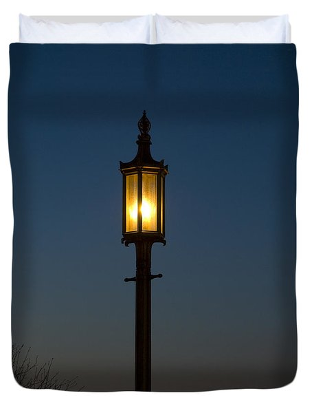 Solitary Gas Light Duvet Cover by Tim Mulina