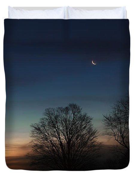 Solstice Moon Duvet Cover by Bill  Wakeley