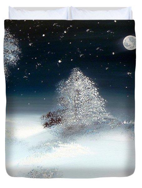 Solstice Snowfall I Duvet Cover by Alys Caviness-Gober