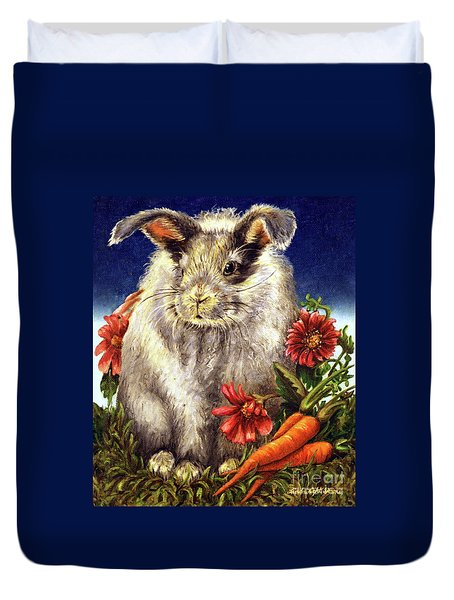 Some Bunny Is A Fuzzy Wuzzy Duvet Cover by Linda Simon