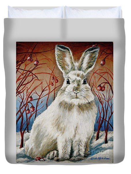 Some Bunny Is Charming Duvet Cover by Linda Simon