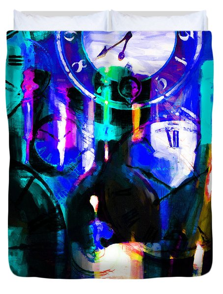 Some Things Get Better With Time - Square p180 Duvet Cover by Wingsdomain Art and Photography