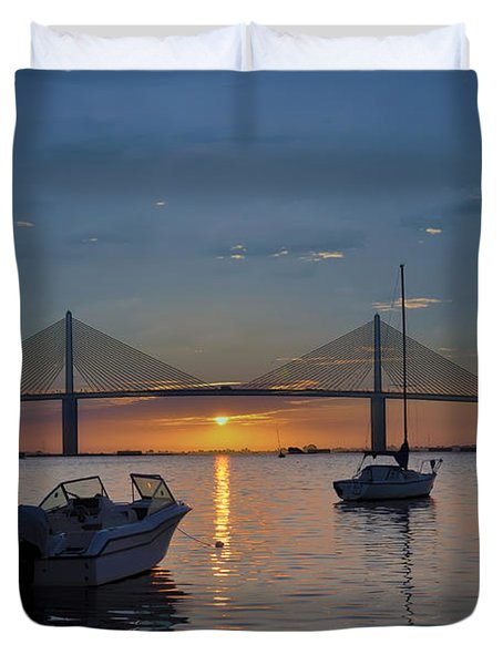 Something About a Sunrise Duvet Cover by Bill Cannon