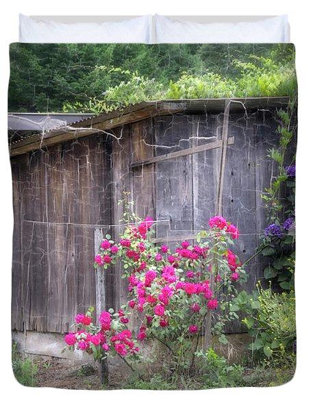 Somewhere near Geyserville CA Duvet Cover by Joan Carroll