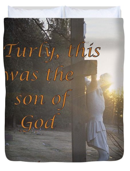 Son Of God Duvet Cover by Sharon Elliott