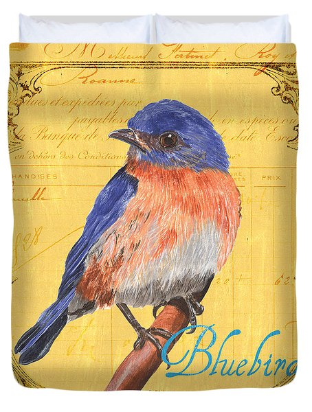 Colorful Songbirds 1 Duvet Cover by Debbie DeWitt