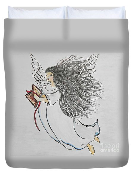 Songs of Angels Duvet Cover by Eloise Schneider
