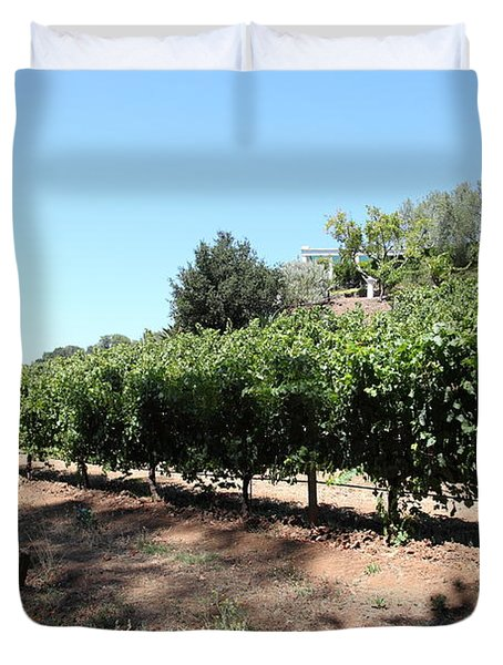Sonoma Vineyards In The Sonoma California Wine Country 5D24499 Duvet Cover by Wingsdomain Art and Photography