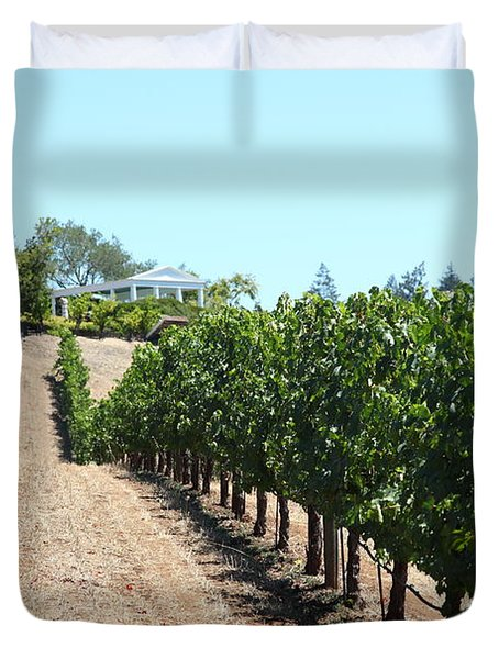 Sonoma Vineyards In The Sonoma California Wine Country 5D24507 Duvet Cover by Wingsdomain Art and Photography