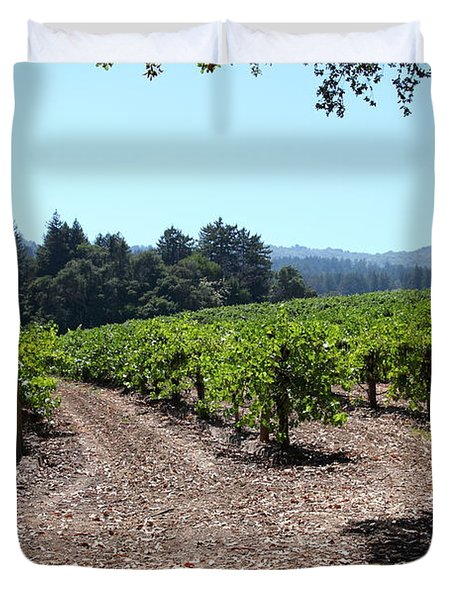 Sonoma Vineyards In The Sonoma California Wine Country 5d24511 Duvet Cover by Wingsdomain Art and Photography