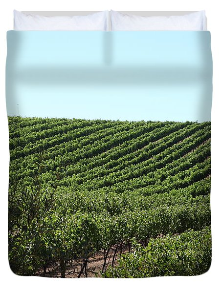 Sonoma Vineyards In The Sonoma California Wine Country 5d24588 Duvet Cover by Wingsdomain Art and Photography