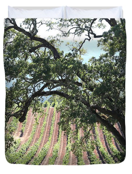 Sonoma Vineyards In The Sonoma California Wine Country 5d24619 Vertical Duvet Cover by Wingsdomain Art and Photography