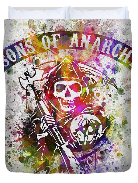 Sons Of Anarchy In Color Duvet Cover by Aged Pixel