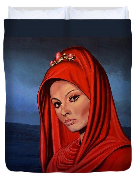 Sophia Loren Duvet Cover by Paul Meijering