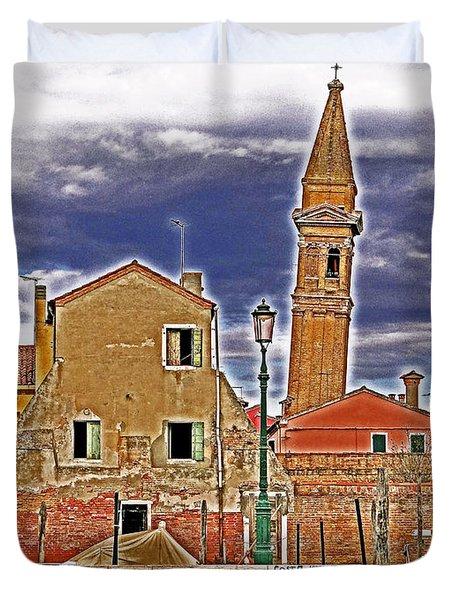 Sosta Vietata No Parking Duvet Cover by Ira Shander