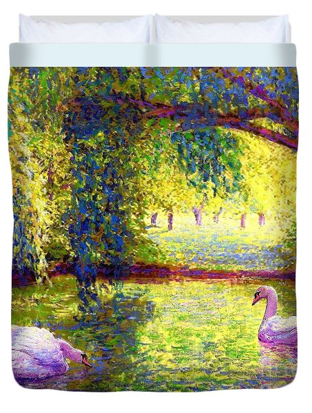 Soul Mates Duvet Cover by Jane Small