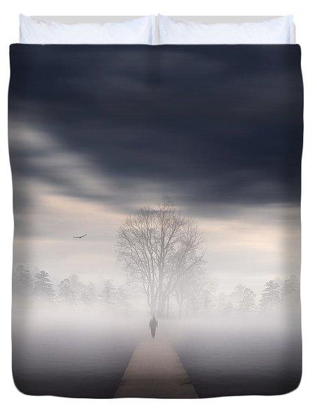 Soul's Journey Duvet Cover by Lourry Legarde