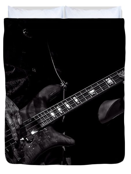 Sounds In The Night Bass Man Duvet Cover by Bob Orsillo
