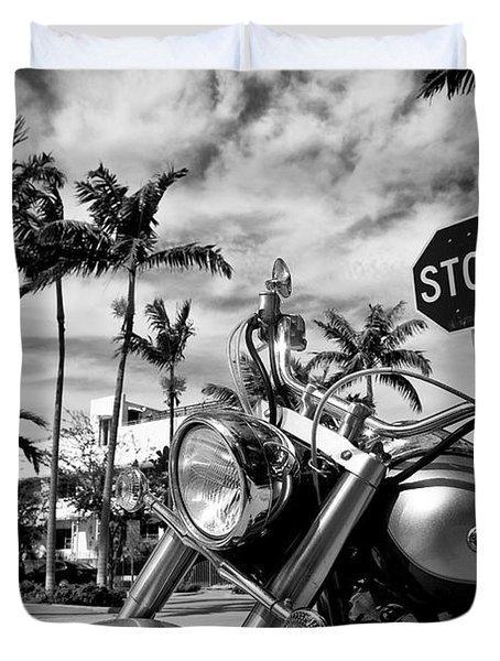 South Beach Cruiser Duvet Cover by Dave Bowman