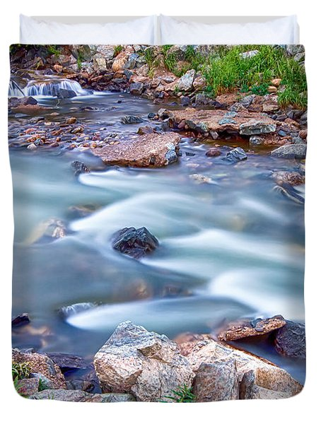 South Boulder Creek Little Waterfalls Rollinsville Duvet Cover by James BO  Insogna