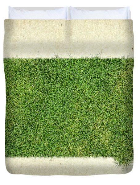 South Dakota Grass Map Duvet Cover by Aged Pixel