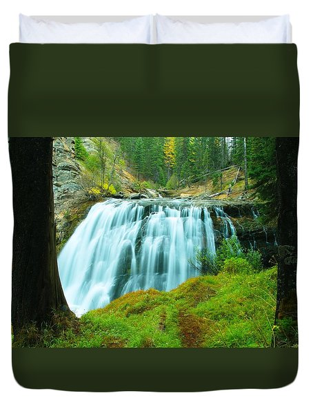 South Fork Falls  Duvet Cover by Jeff  Swan