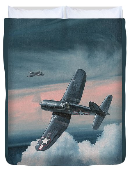 South Pacific Hot Rods Duvet Cover by Wade Meyers