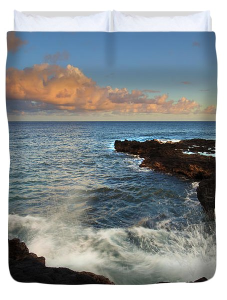 South Shore Spray Duvet Cover by Mike  Dawson