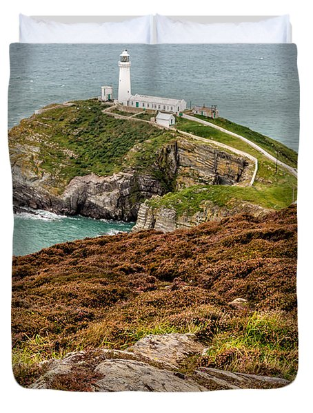 South Stack Lighthouse Duvet Cover by Adrian Evans
