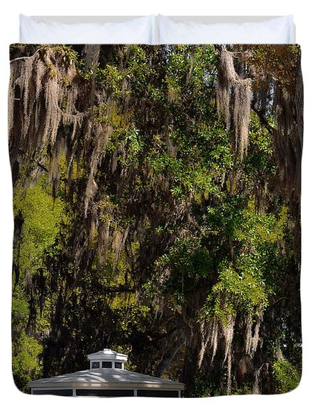 Southern Gothic In Mount Dora Florida Duvet Cover by Christine Till