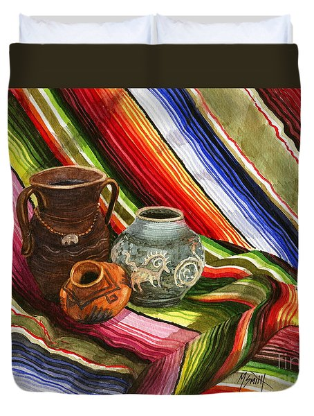 Southwest Still Life Duvet Cover by Marilyn Smith