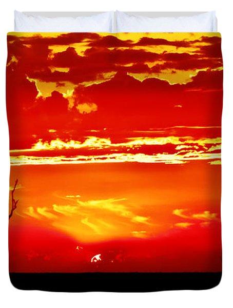 Southwest Sunset Duvet Cover by Robert Bales